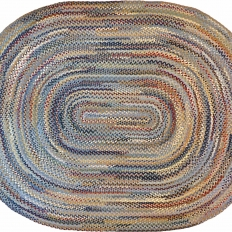 8′ x 10′ Oval Wool Braided Rug
