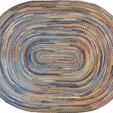 8′ x 10′ Oval Wool Braided Rug