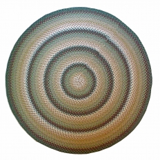 "7'11"" Round Wool Braided Rug"