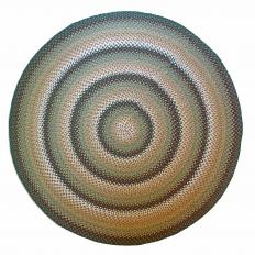 "7'11"" Round Wool Braided Rug"