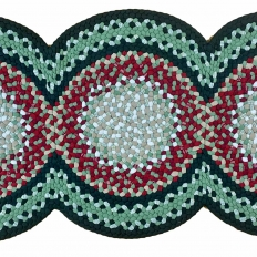 2′ x 4'8″ 3-Circle Wool Braided Runner