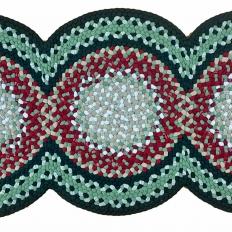 2′ x 4'8″ 3-Circle Wool Braided Runner